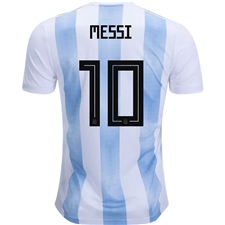 Adidas Argentina 'MESSI 10' Home Jersey '18-'19 (White/Clear Blue/Black)