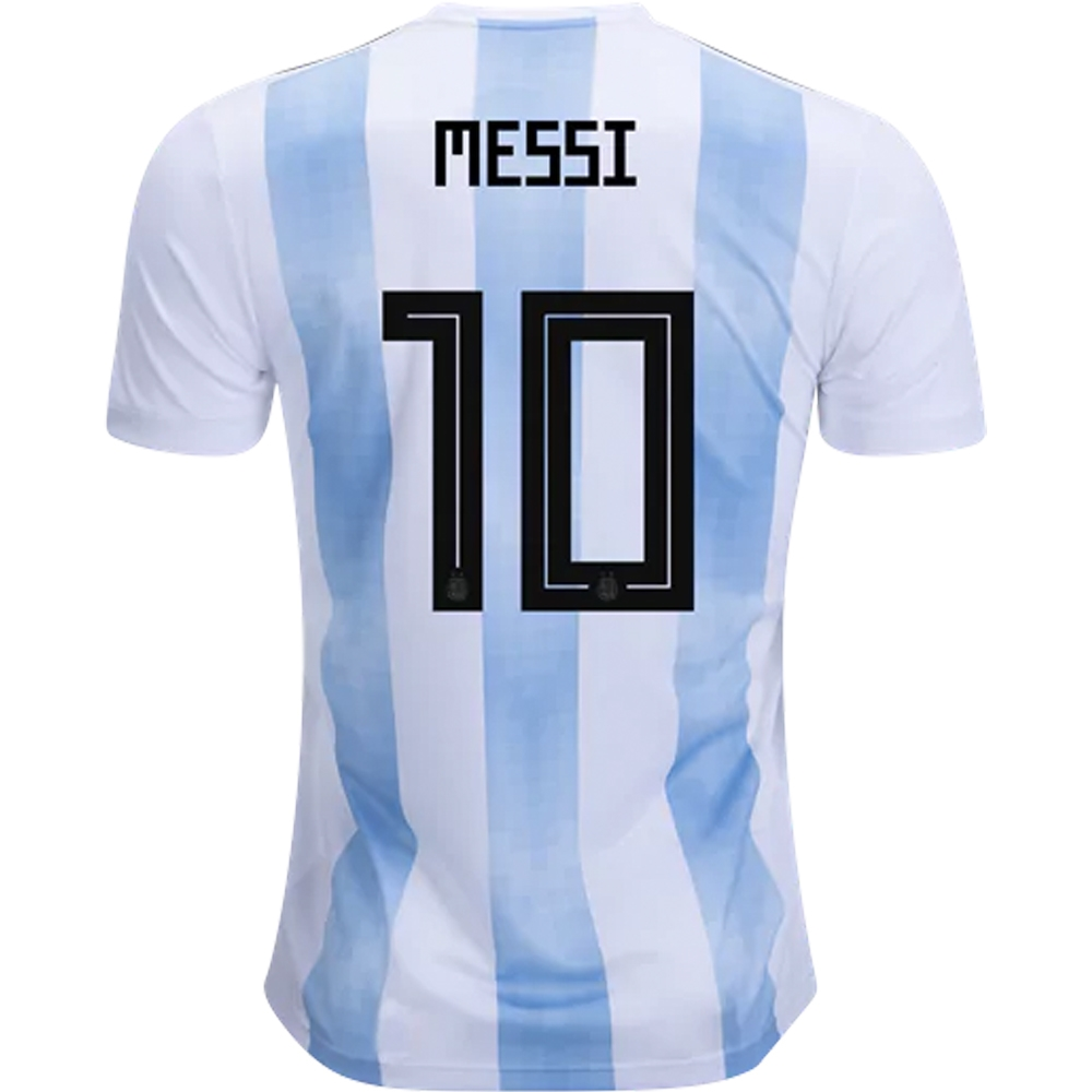 d00db0752 Adidas Argentina  MESSI 10  Home Jersey  18- 19 (White Clear Blue ...