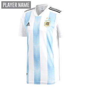 Adidas Argentina Home Authentic Jersey '18-'19 (White/Clear Blue/Black)