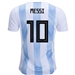 Adidas Argentina 'MESSI 10' Home Authentic Jersey '18-'19 (White/Clear Blue/Black)