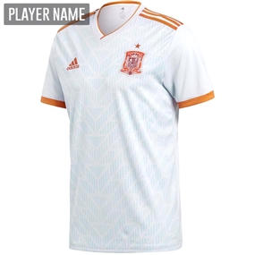 Adidas Spain Away Jersey '18-'19 (Halo Blue/Bright Red)