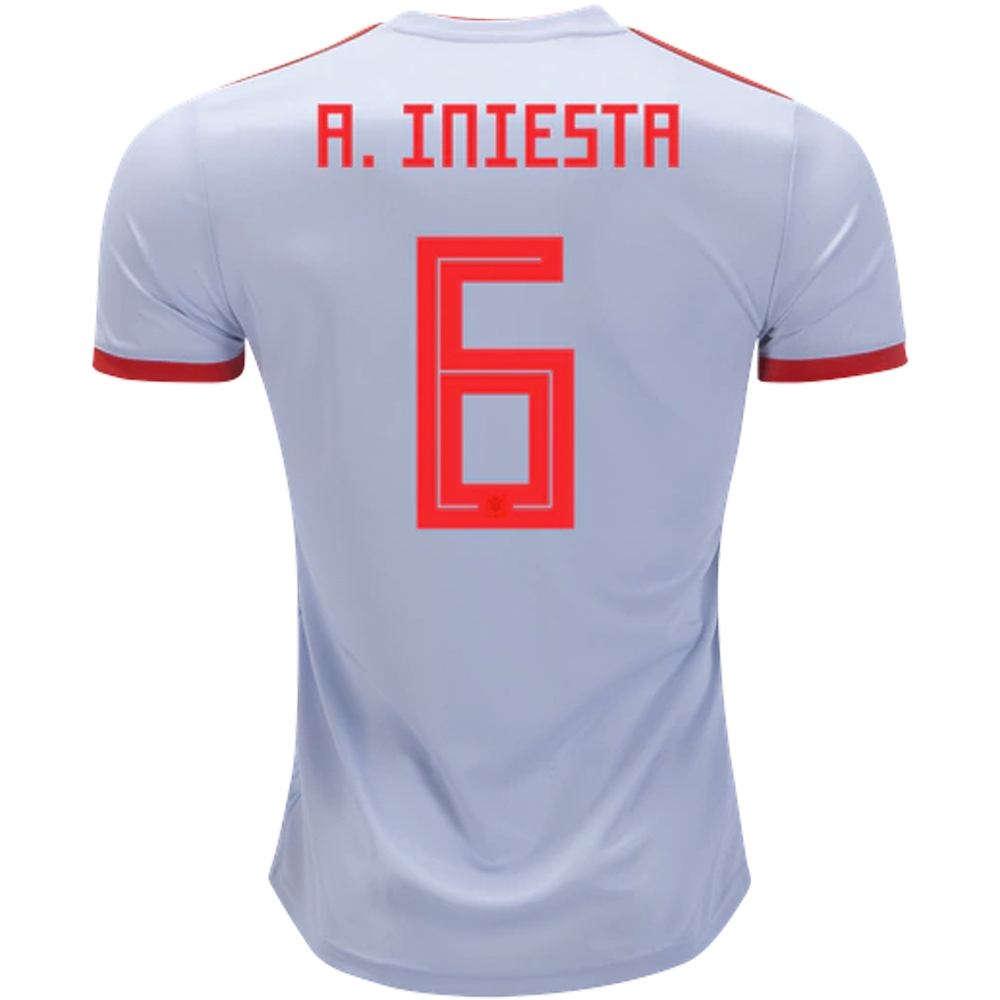 273984928c2 Adidas Spain 'A. INIESTA 6' Away Jersey '18-'19 (Halo Blue/Bright ...