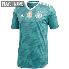 Adidas Germany Away Jersey '18-'19 (EQT Green/White/Real Teal)