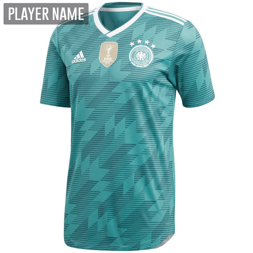 41ba7ae25ec Adidas Germany Away Jersey  18- 19 (EQT Green White Real Teal ...