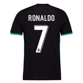 Adidas Real Madrid 'RONALDO 7' Away '17-'18 Soccer Jersey (Black/Aero Reef)