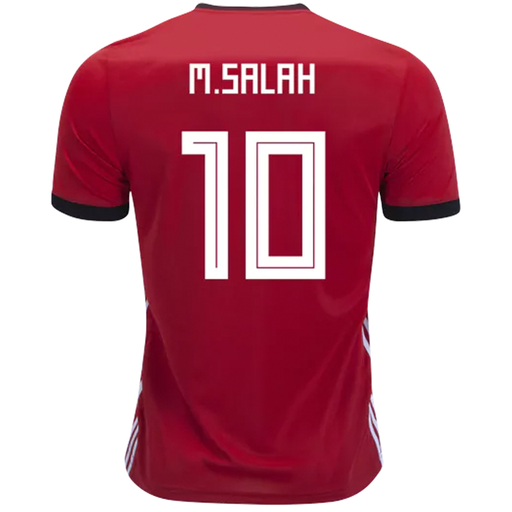 f5e06f06475 Adidas Egypt  M. SALAH 10  Home Jersey  18- 19 (Collegiate Red Black ...