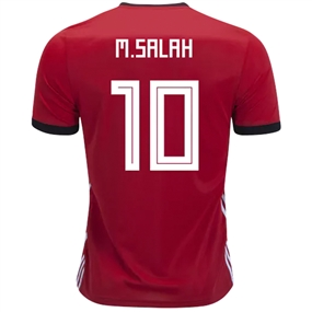 Adidas Egypt 'M. SALAH 10' Home Jersey '18-'19 (Collegiate Red/Black)