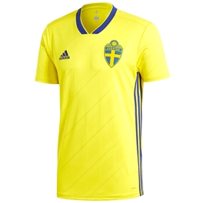 Adidas Sweden Home Jersey '18-'19 (Yellow/Mystery Ink)