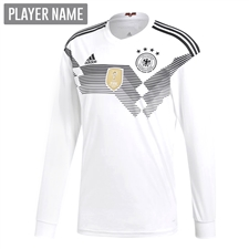 Adidas Germany Home Long Sleeve Jersey '18-'19 (White/Black)