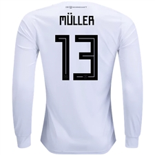 Adidas Germany 'MULLER 13' Home Long Sleeve Jersey '18-'19 (White/Black)