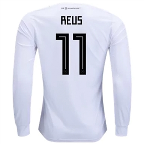 Adidas Germany 'REUS 11' Home Long Sleeve Jersey '18-'19 (White/Black)