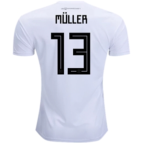 Adidas Germany 'MULLER 13' Home Jersey '18-'19 (White/Black)