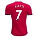 Adidas Manchester United 'ALEXIS 7' Home '17-'18 Soccer Jersey (Real Red/White/Black)