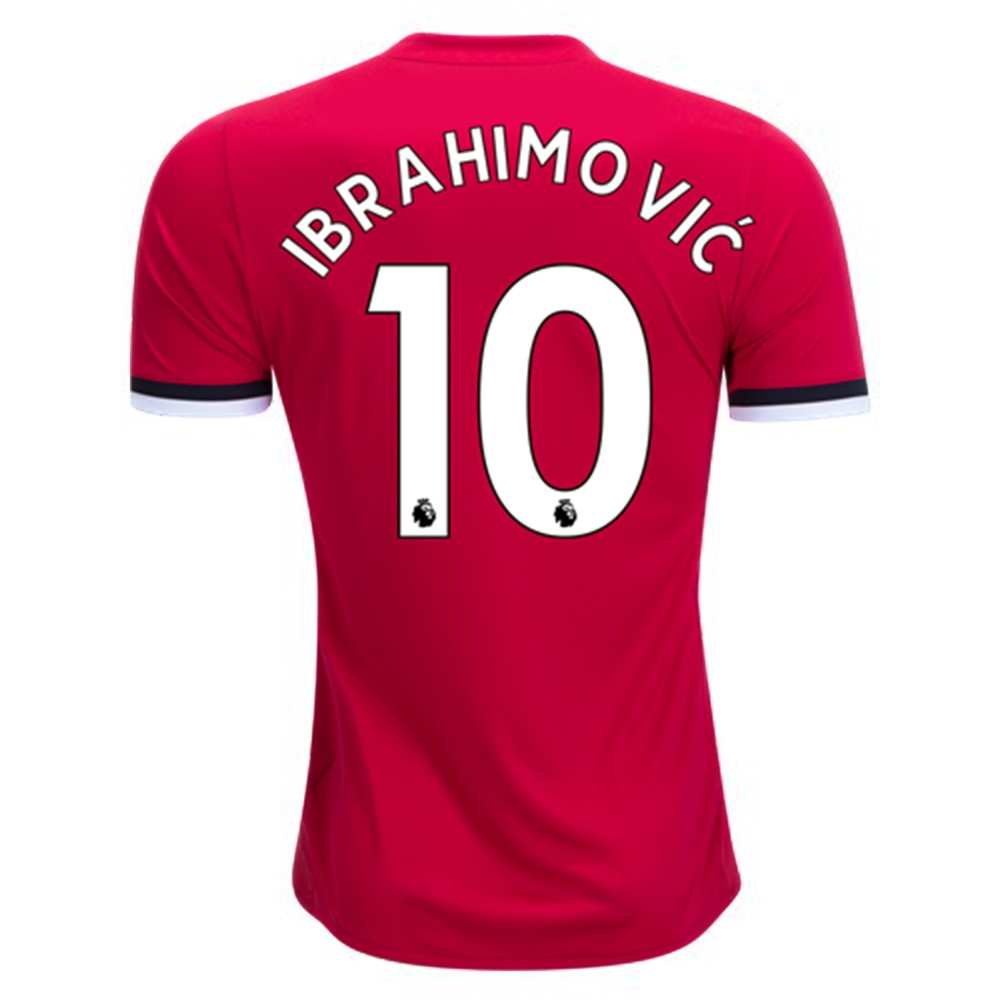 23b50c4beb7 ... Adidas Manchester United  IBRAHIMOVIC 10  Home  17- 18 Soccer Jersey ...
