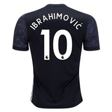 Adidas Manchester United 'IBRAHIMOVIC 10' Away '17-'18 Soccer Jersey (Black/White/Sharp Grey)