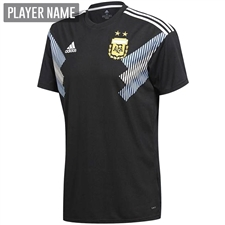 Adidas Argentina Away Jersey '18-'19 (Black/Clear Blue/White)