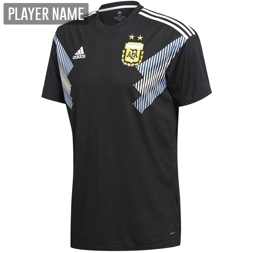ce5f9056c Adidas Argentina Away Jersey  18- 19 (Black Clear Blue White ...