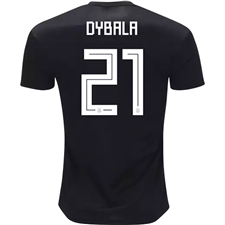 Adidas Argentina 'DYBALA 21' Away Jersey '18-'19 (Black/Clear Blue/White)
