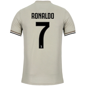 Adidas Juventus 'RONALDO 7' Away Authentic Jersey '18-'19 (Sesame/Clay)