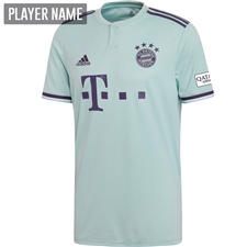 Adidas Bayern Munich Away Jersey '18-'19 (Ash Green/Trace Purple/White)