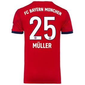 Adidas Bayern Munich 'MULLER 25' Home Jersey '18-'19 (FCB True Red/Strong Red/White)