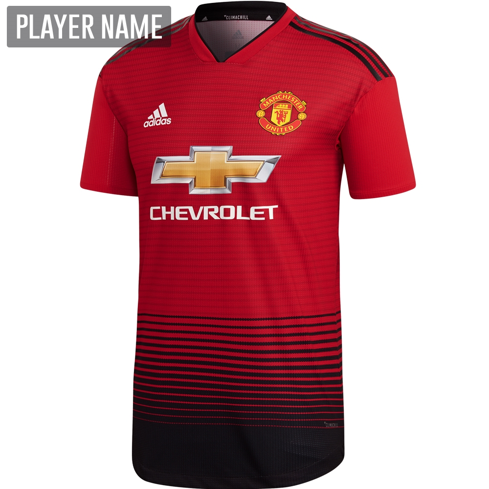 e1d92555d Adidas Manchester United Home Authentic Jersey  18- 19 (Real Red Black