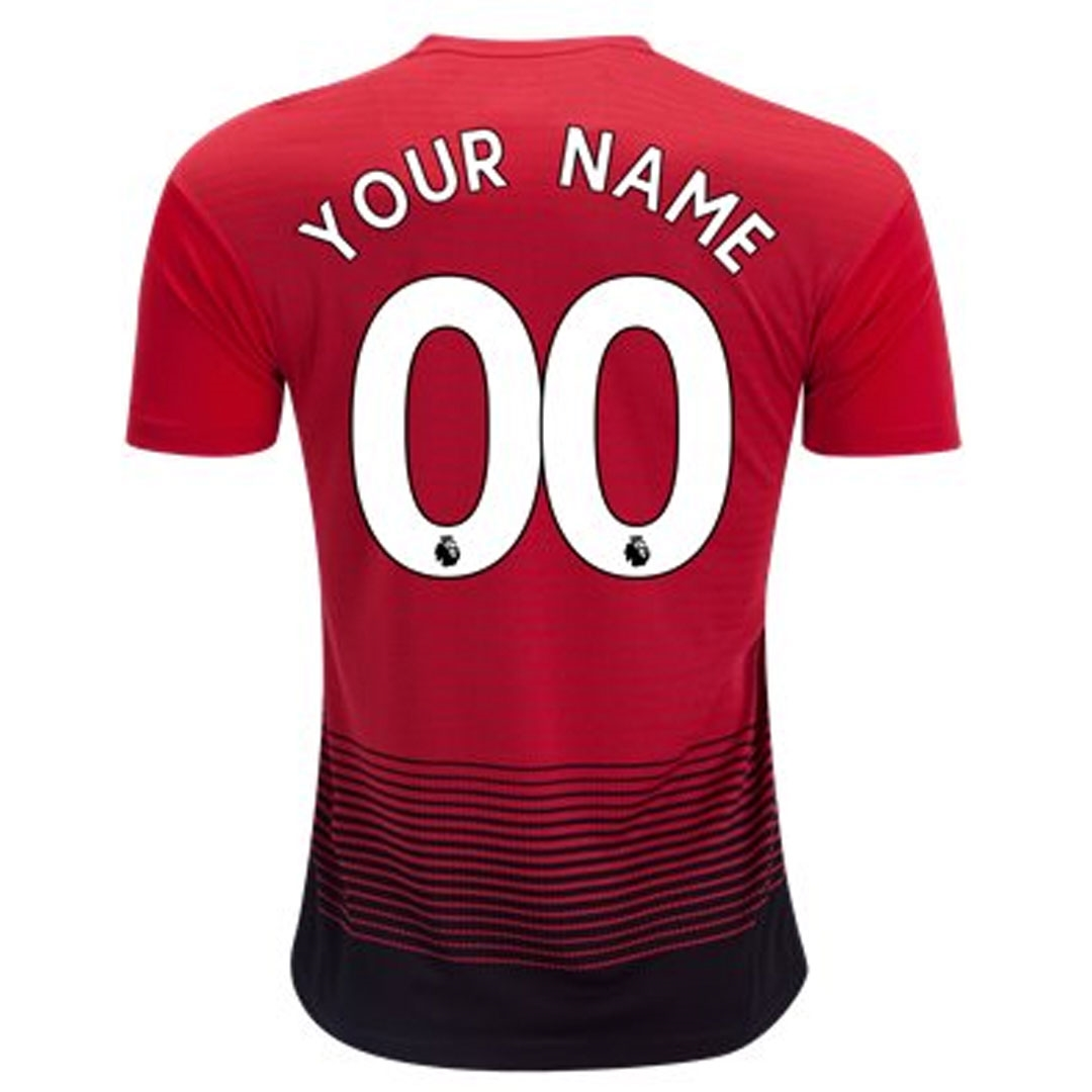 san francisco cf9a3 e3ac2 Adidas Manchester United 'CUSTOM' Home Authentic Jersey '18-'19 (Real  Red/Black)