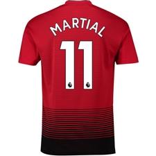 Adidas Manchester United 'MARTIAL 11' Home Authentic Jersey '18-'19 (Real Red/Black)