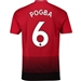 Adidas Manchester United 'POGBA 6' Home Authentic Jersey '18-'19 (Real Red/Black)