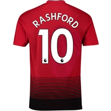 Adidas Manchester United 'RASHFORD 10' Home Authentic Jersey '18-'19 (Real Red/Black)