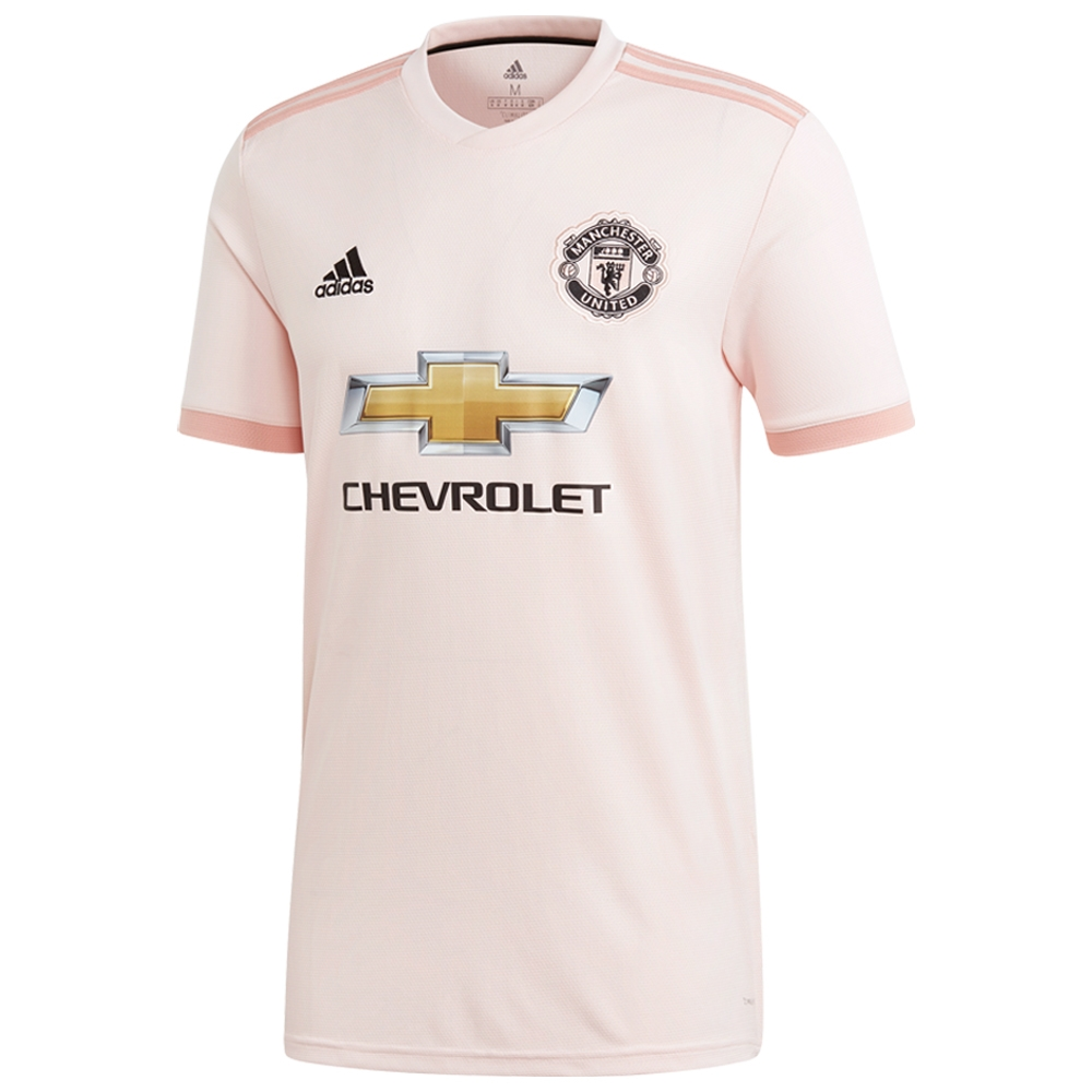 buy online b4923 e7319 Adidas Manchester United 'POGBA 6' Away Jersey '18-'19 (Icey Pink/Trace  Pink/Black)
