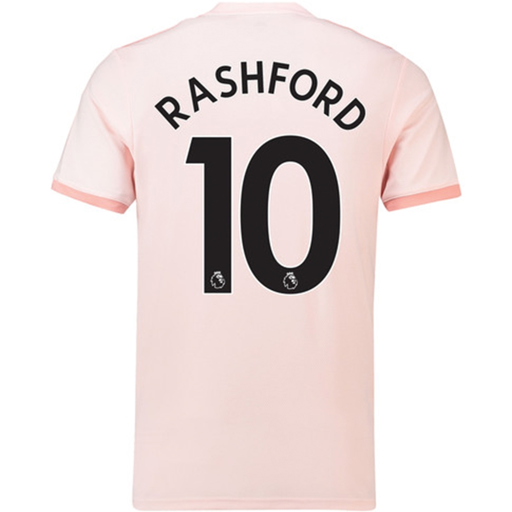 finest selection 5c2bb 84438 Adidas Manchester United 'RASHFORD 10' Away Jersey '18-'19 (Icey Pink/Trace  Pink/Black)