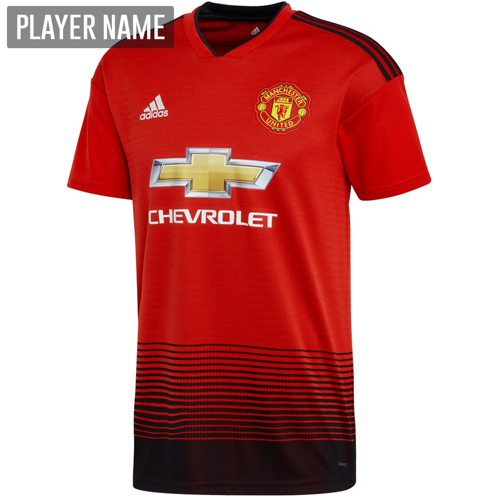 727aff9027e Adidas Manchester United Home Jersey '18-'19 (Real Red Black ...