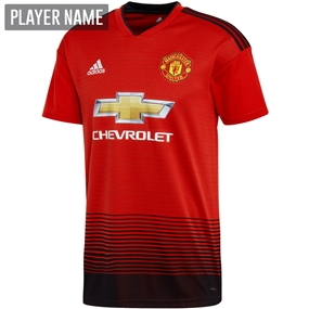 Adidas Manchester United Home Jersey '18-'19 (Real Red/Black)