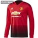 Adidas Manchester United Home Long Sleeve Jersey '18-'19 (Real Red/Black)