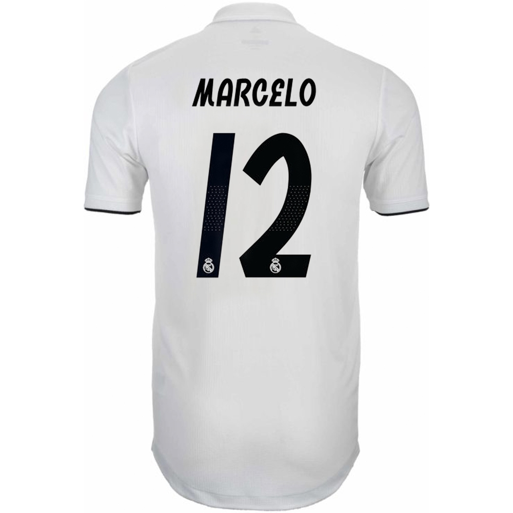 9fbff2b8c5e Adidas Real Madrid  MARCELO 12  Home Authentic Jersey  18- 19 (Core ...