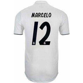 Adidas Real Madrid 'MARCELO 12' Home Authentic Jersey '18-'19 (Core White/Black)