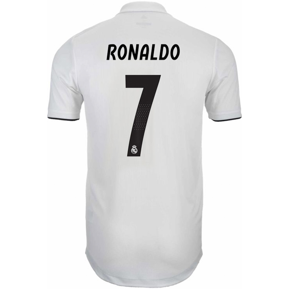 Adidas Real Madrid  RONALDO 7  Home Authentic Jersey  18- 19 (Core ... 84ce80a25
