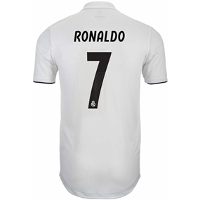 Adidas Real Madrid 'RONALDO 7' Home Authentic Jersey '18-'19 (Core White/Black)
