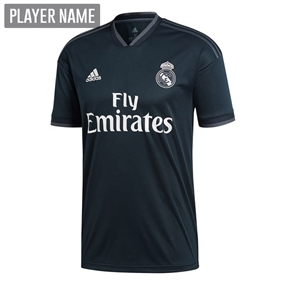 Adidas Real Madrid Away Jersey '18-'19 (Tech Onix/Bold Onix/White)