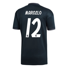 Adidas Real Madrid 'MARCELO 12' Away Jersey '18-'19 (Tech Onix/Bold Onix/White)