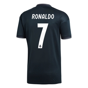 Adidas Real Madrid 'RONALDO 7' Away Jersey '18-'19 (Tech Onix/Bold Onix/White)
