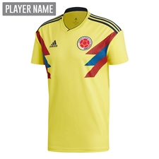 Adidas Colombia Home Jersey '18-'19 (Bright Yellow/Collegiate Navy)