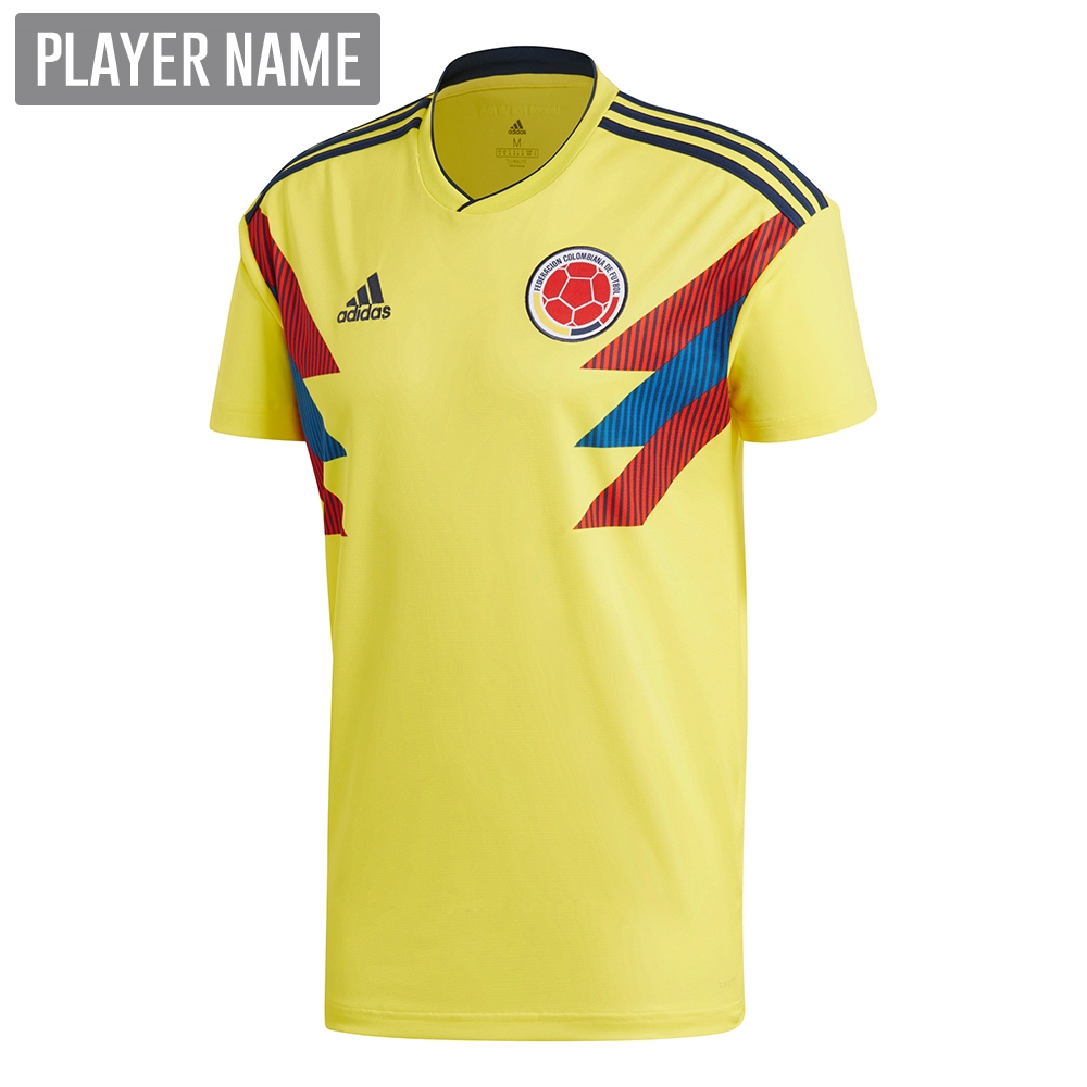 99d0ce4199a Adidas Colombia Home Jersey  18- 19 (Bright Yellow Collegiate Navy ...