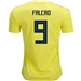 Adidas Colombia 'FALCAO 9' Home Jersey '18-'19 (Bright Yellow/Collegiate Navy)