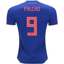 Adidas Colombia 'FALCAO 9' Away Jersey '18-'19 (Bold Blue/Solar Red)