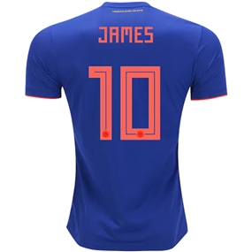 Adidas Colombia 'JAMES 10' Away Jersey '18-'19 (Bold Blue/Solar Red)