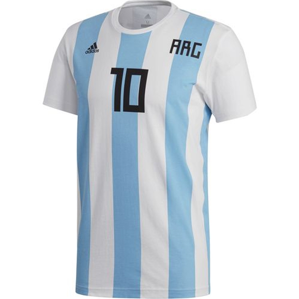 brand new 1bde9 7bbcd Adidas Men's 2018 FIFA World Cup Argentina Messi 10 T-Shirt (White)