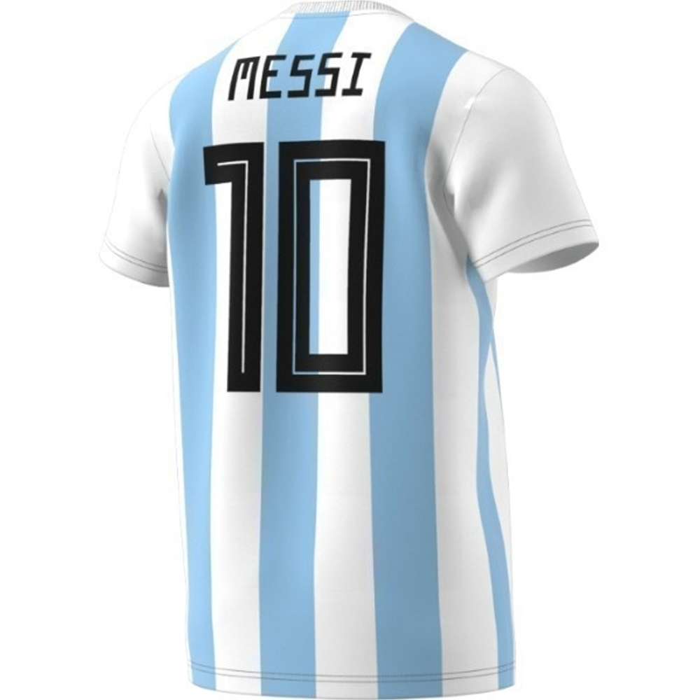 Adidas Men s 2018 FIFA World Cup Argentina Messi 10 T-Shirt (White ... 67e0c75d7