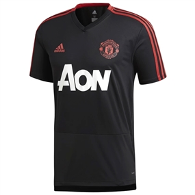Adidas Manchester United Training Jersey (Black/Blaze Red/Core Pink)